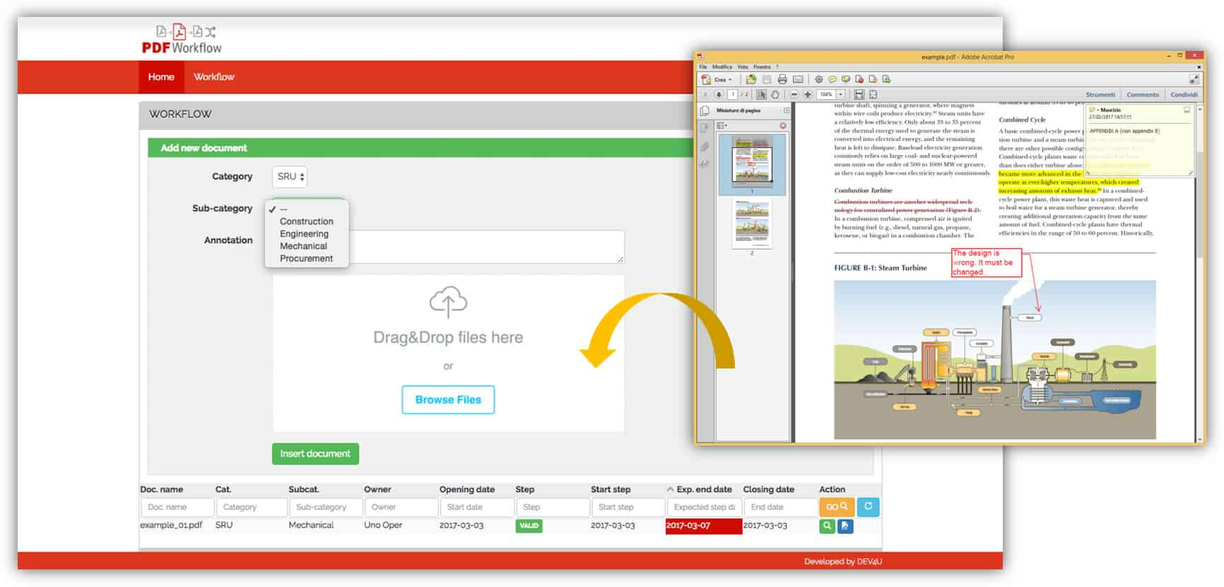 Anteprima Software Workflow di revisione documentale ed approvativo - PDF WORKFLOW